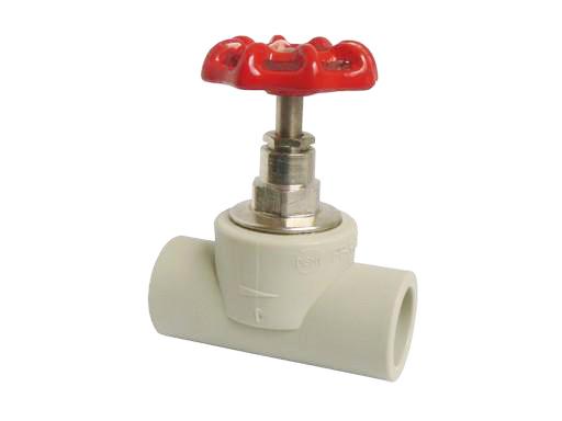 PPR Uzavírací ventil přímý 20mm s mosazným vrškem 625020