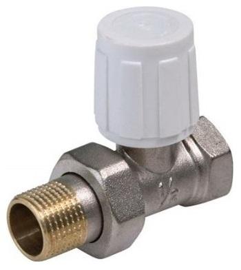 """V&G Valogin V&G 407D Radiátorový ruční ventil přímý DN10 - 3/8"""" jednoregulační s hlavicí 407138"""