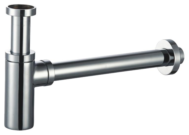 """MINITOTI Umyvadlový sifon 5/4"""", odpad 32mm, válcový, CHROM 84411"""