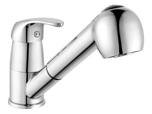 STENO 3050 Stojánková dřezová vodovodní baterie s výsuvnou sprchou, CHROM ST3050