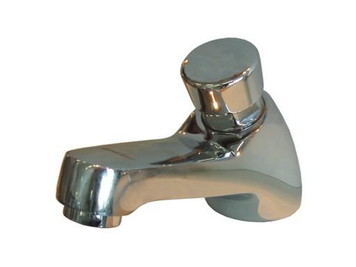 TENDER 10 Stojánkový tlačítkový umyvadlový ventil, samouzavírací bez regulace teploty, CHROM TR10