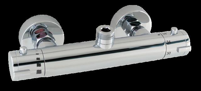 """TERMA 1645H Sprchová termostatická vodovodní baterie s horním vývodem 3/4"""" pro set, CHROM, rozteč 150mm TE1645H"""