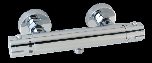 """TERMA 1645 Sprchová termostatická vodovodní baterie se spodním vývodem 1/2"""" CHROM, rozteč 150mm TE1645S"""