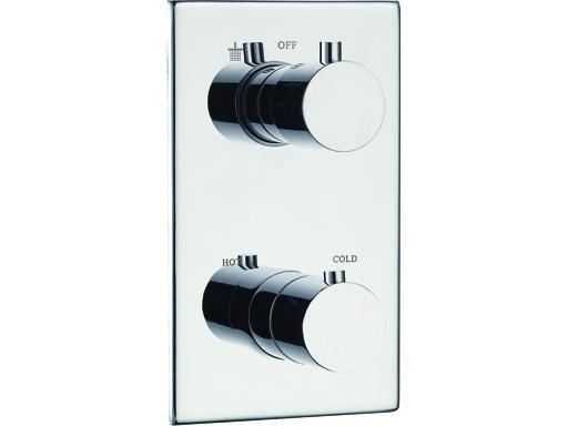 BELAGGIO TERMA 1649 Podomítková termostatická sprchová baterie, CHROM, dvoucestná TE1649