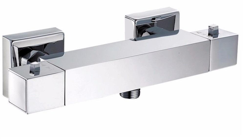 TERMA 1655 Termostatická sprchová vodovodní baterie - hranatá, CHROM, rozteč 150mm TE1655