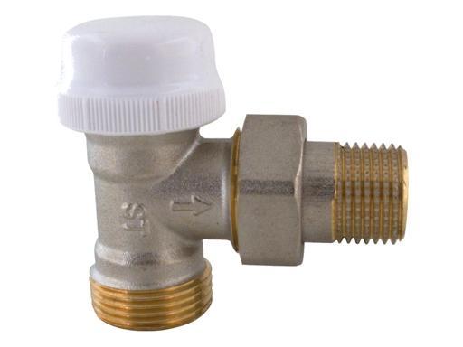 """V&G 416 Termostatický ventil radiátorový rohový DN15 - 1/2""""x3/4"""" s eurokonusem 41612"""