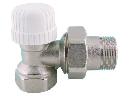 """V&G Valogin V&G 417 Termostatický ventil radiátorový rohový DN15 - 1/2"""" PN10, Tmax 110°C 41712"""