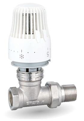 """V&G 403D Termostatický ventil radiátorový přímý 1/2"""" PN10, Tmax 110°C s termostatickou hlavicí - SET 66403DSET"""