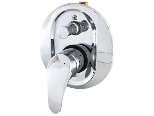 STENO CZ TOP 1252 Páková podomítková vodovodní baterie s přepínáním na sprchu, CHROM TOP1252