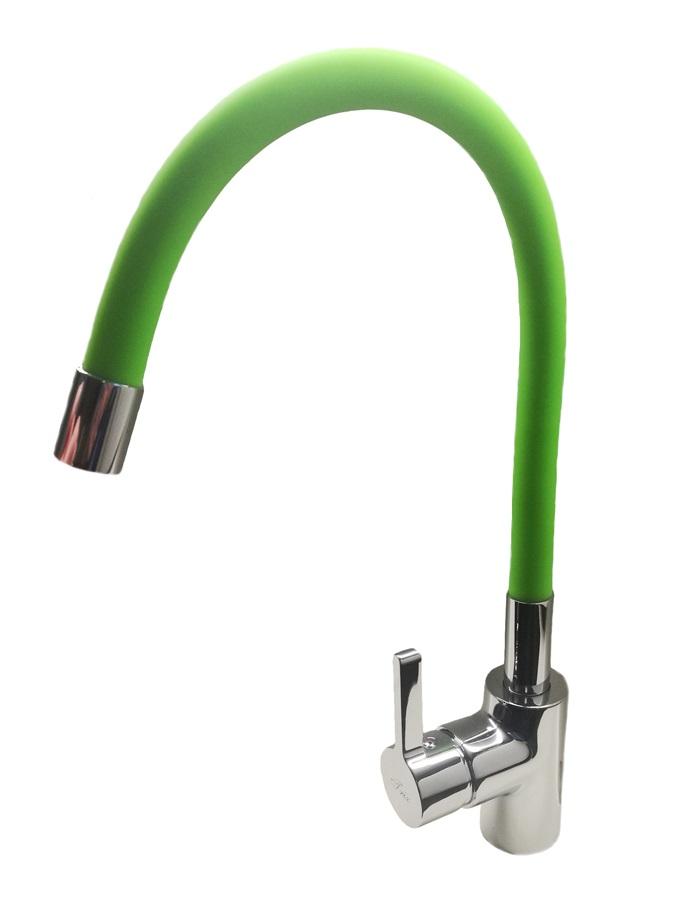TRIX 1008Z Kuchyňská vodovodní baterie s flexi zeleným ramínkem, CHROM/ZELENÁ TR1008Z