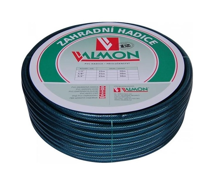"VALMON Zahradní hadice PVC 1/2"" x 10m - typ 1122, Pmax 10BAR, Neprůhledná 6421210"