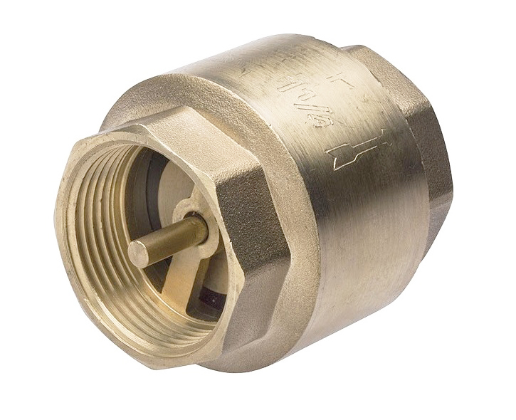 """V&G 2301 Mosazná zpětná klapka DN15 - 1/2"""" PN16 - mosazný plovák s pružinou 230112"""