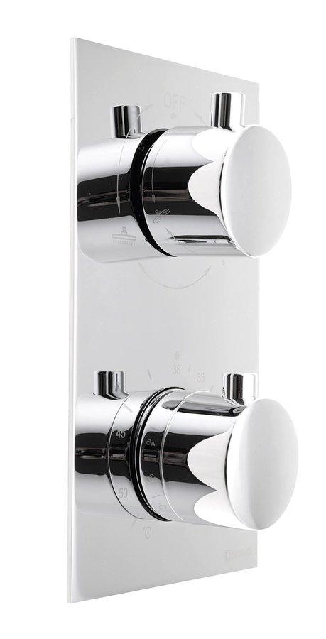 KIMURA podomítková sprchová termostatická baterie, 2 výstupy, chrom, KU385 KU385
