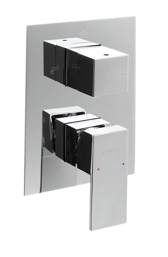 LATUS podomítková sprchová baterie, 3 výstupy, chrom 1102-44
