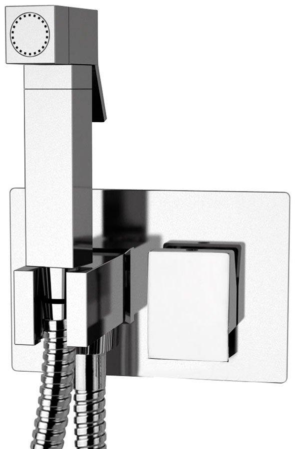 LATUS podomítková baterie s bidetovou sprškou, hranatá, chrom, 1102-07 1102-07