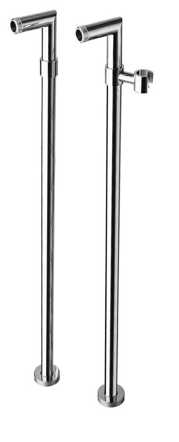 Připojení pro instalaci vanové baterie do podlahy (pár), chrom 9881