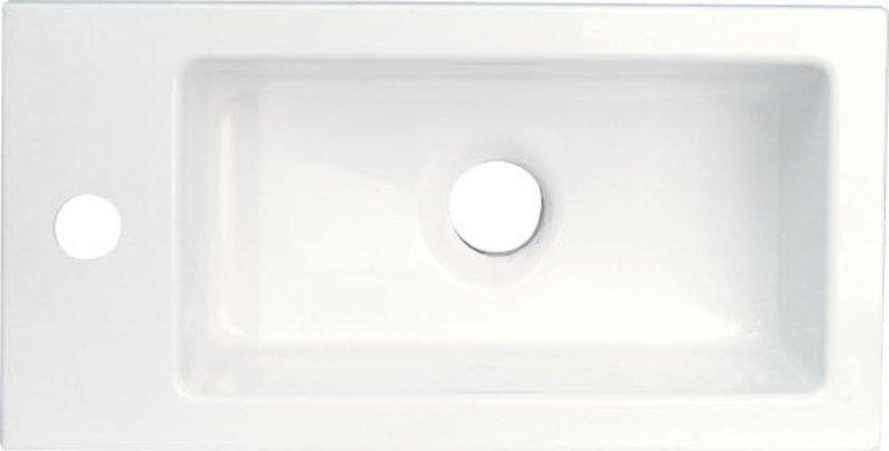 LATUS umyvadlo 45x2x23cm, litý mramor, bílé 55510