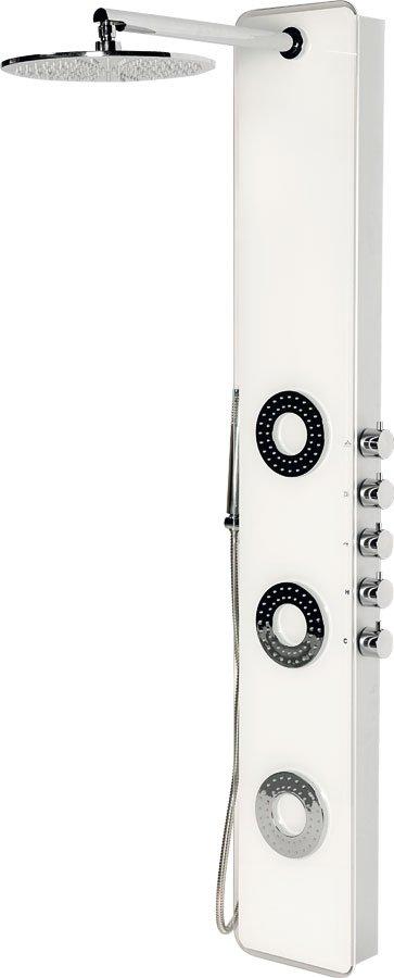 IDESK sprchový panel 1550x250mm, bílé sklo, WN765 WN765