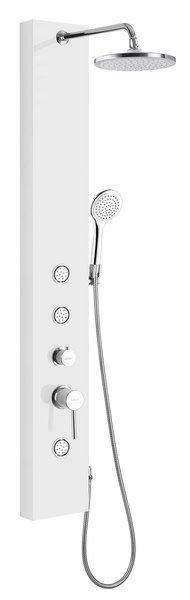 DIVA sprchový panel s baterií 200x1450 mm, bílá, SL270 SL270