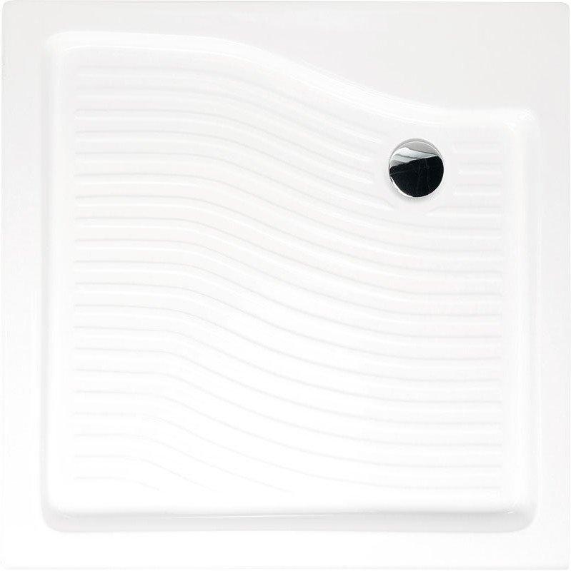 Sprchová vanička akrylátová, čtverec 80x80x15 cm C82