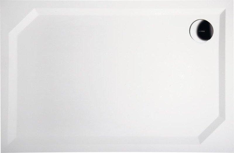 SARA sprchová vanička z litého mramoru, obdélník 100x90x4cm, hladká HS10090