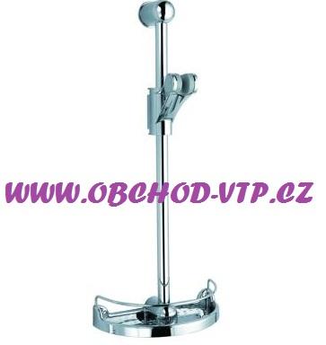 Posuvná sprchová tyč GENIUS s poličkou, CHROM 88310
