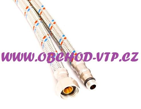 """BUGNATESE Tlaková připojovací flexi hadička k baterii MF 3/8"""" x 10mm 30cm, PN10, 100°C 85381030"""