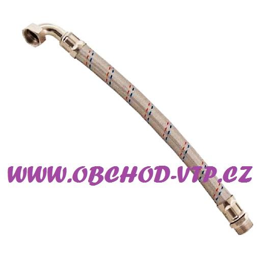 """Tlaková propojovací flexi hadice MF 1"""" x 1"""" 50cm s KOLENEM, PN10, 100°C 875011"""