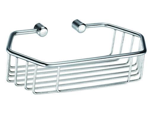 Drátěná koupelnová polička šestiúhelníková, jednoduchá - CHROM 804111