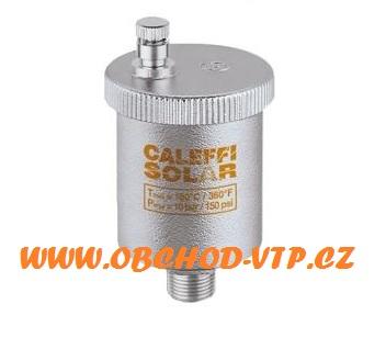 "CALEFFI 250 Automatický odvzdušňovací ventil SOLAR 3/8"" Tmax 180°C 5025SO38"