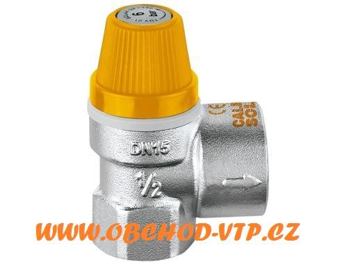 "CALEFFI 253 Pojistný ventil SOLAR 3/4"" x 2,5BAR, Tmax 180°C 2533425"