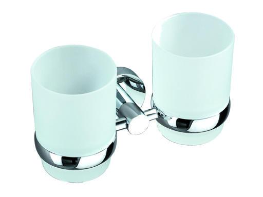 SEVILA 8128 Dvojitý držák na skleničku - Koupelnové doplňky BELAGGIO 808128