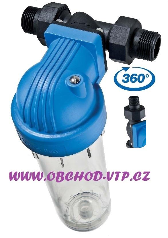 """ATLAS FILTRI Vodní filtr SENIOR 10"""" DP 360°DS - 3/4""""(1""""), BX(SX) 8BAR, 45°C AF1410401"""