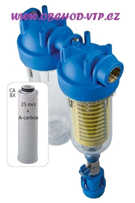 """ATLAS FILTRI Vodní filtr samočistící HYDRA DUO 1"""" RSH 50mcr + CA 25mcr + (aktivní uhlí) 6096173CA"""
