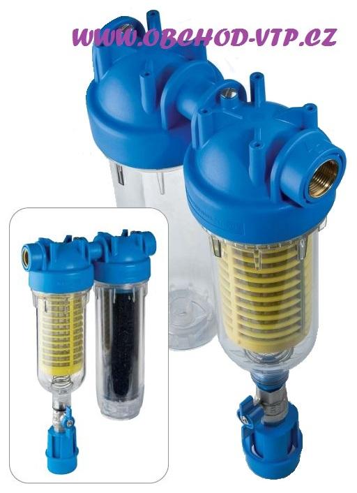 """ATLAS FILTRI Vodní filtr samočistící HYDRA DUO 1"""" RSH 50mcr + LA (aktivní uhlí) SX 8BAR 6096173LA"""