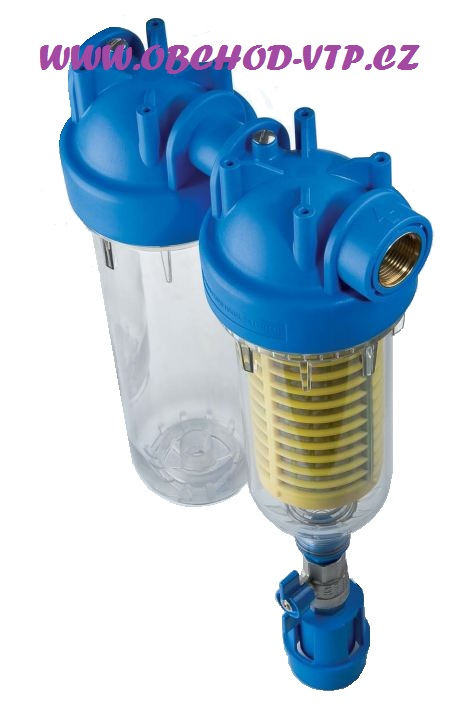 "ATLAS FILTRI Vodní filtr samočistící HYDRA DUO 1"" RSH 50mcr + Prázdná nádoba BX(SX) 8BAR 6096173"