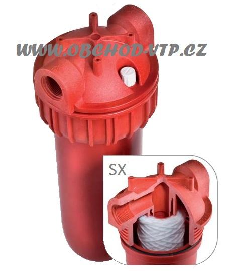 """ATLAS FILTRI Vodní filtr SENIOR 3/4"""" HOT 3P - 10"""" SX 80°C PN8 - na horkou vodu 1110518"""