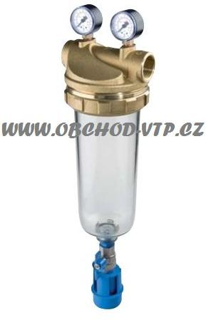 """ATLAS FILTRI Vodní filtr SENIOR """"K"""" 1"""" 2P - 10"""" BX 45°C PN10 mosazná hlava, odkalení 3110725"""