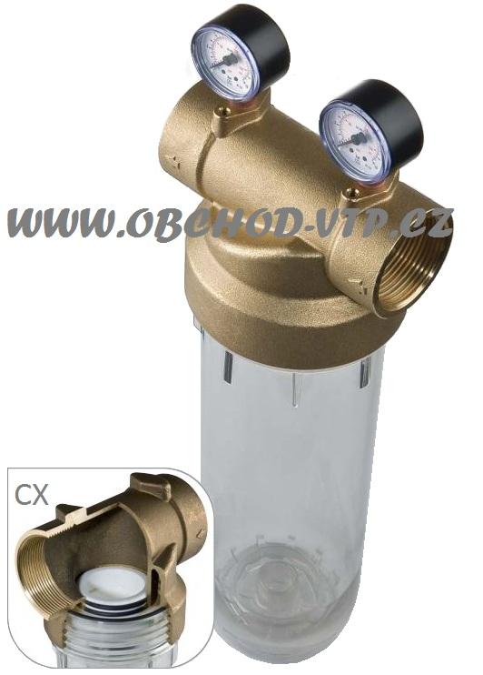"""ATLAS FILTRI Vodní filtr SENIOR """"K"""" 6/4"""" 2P - 10"""" CX 45°C PN10 s mosaznou hlavou 3111034"""