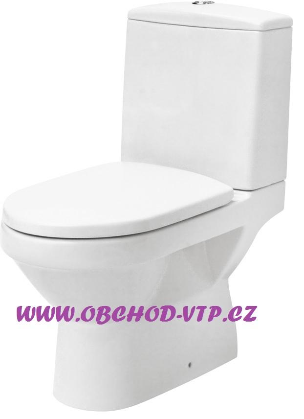 CERSANIT WC Kombi OLIMPIA - Odpad UNI Spodní/Zadní, bez sedátka - K10-011/12 K10-011/12