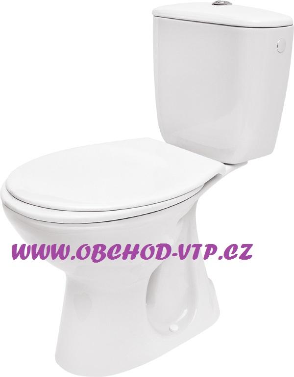 CERSANIT WC Kombi PRESIDENT - Spodní odpad, včetně sedátka - K08-029 K08-029