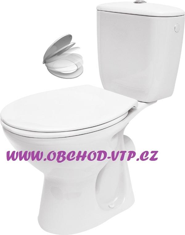 STENO CZ WC Kombi VENUS - Zadní odpad, včetně sedátka s brzdou - 671010 671010