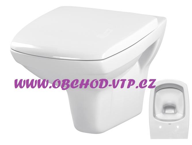 CERSANIT Závěsná WC Mísa CARINA - K31-002 , bez sedátka K31-002
