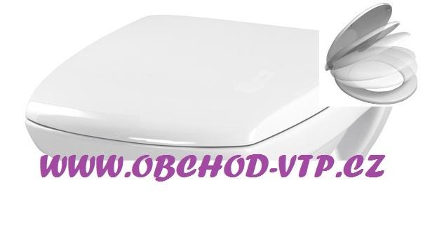 CERSANIT WC Sedátko CARINA - Antibakteriální s brzdou - K98-0069 K98-0069