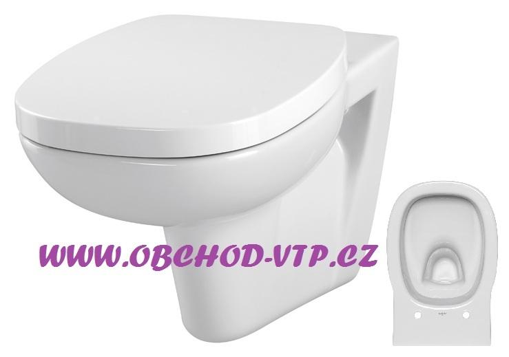 CERSANIT Závěsná WC Mísa FACILE - K30-010 , bez sedátka K30-010