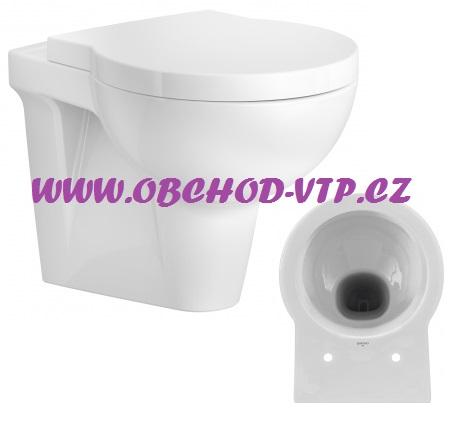 CERSANIT Závěsná WC Mísa NANO - K19-009 , bez sedátka K19-009