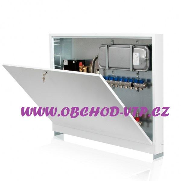 CAPRICORN Skříň rozdělovače pro podlahové vytápění - POD OMÍTKU - 5 až 6 obvodů 52P5-6