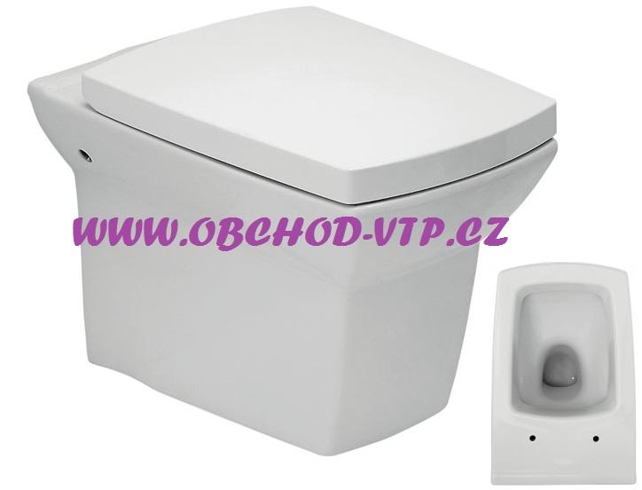 CERSANIT Závěsná WC Mísa SYMFONIA - K14-004 , bez sedátka K14-004