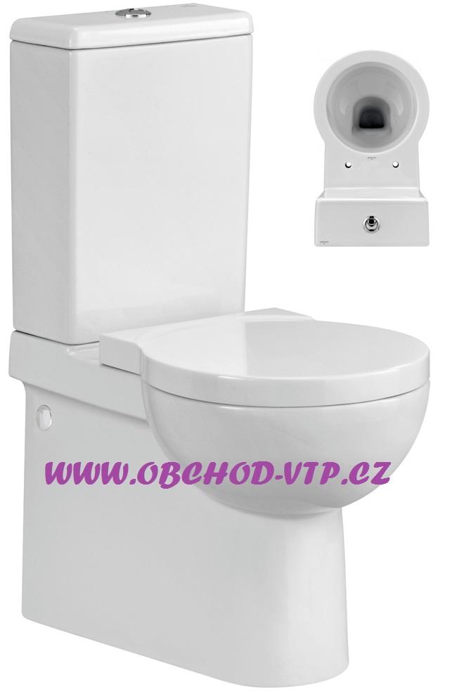 CERSANIT WC Kombi NANO - Odpad UNI Spodní/Zadní, včetně sedátka s brzdou - K19-013 K19-013
