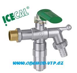 """CALEFFI 603 Zahradní kulový kohout 1/2"""" s pojistkou proti zamrznutí 603-12"""